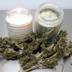 Scented cannabis candle